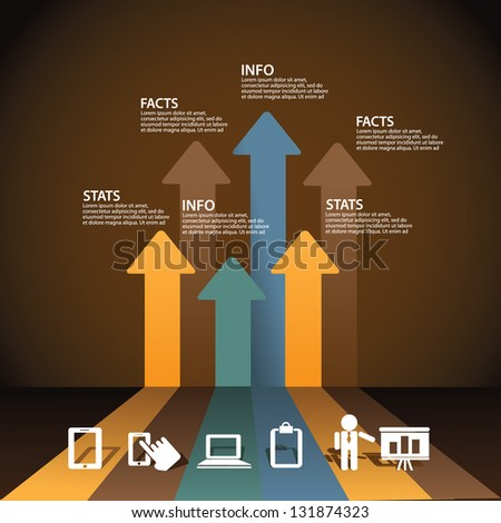 Simple Infographic Elements. EPS 8 vector, grouped for easy editing. No open shapes or paths. - stock vector
