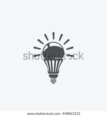 Simple lamp icon on white background. Simple lamp icon. eps8. - stock vector