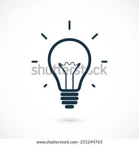 Simple light bulb icon. Vector illustration - stock vector