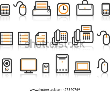 Simple Line Icon Series - Office icon - stock vector