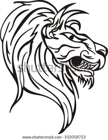 Картинка тигра черно белая