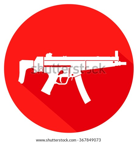 simple military icon. vector illustration of weapon - stock vector