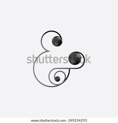 Simple modern ampersand - stock vector