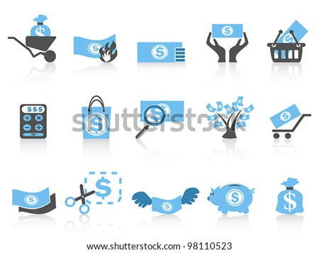 simple money icon,blue series - stock vector