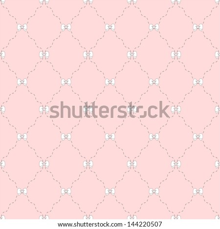 Simple pink pattern. Seamless vector background. - stock vector