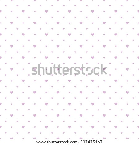 Simple pink pattern with hearts. Seamless vector background. - stock vector