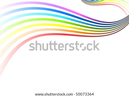 Simple rainbow color on the white - stock vector