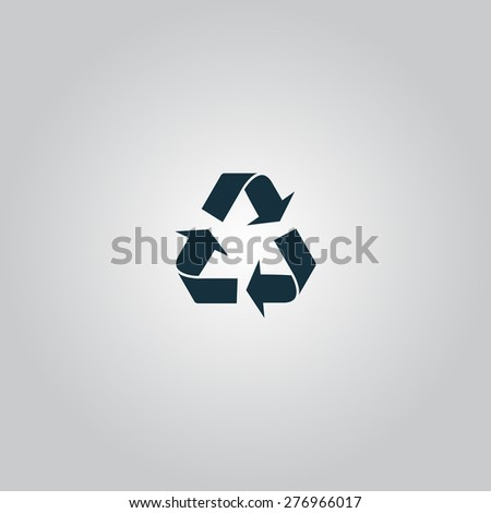Simple Recycling. Flat web icon or sign isolated on grey background. Collection modern trend concept design style vector illustration symbol - stock vector