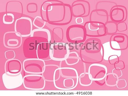 Simple retro rectangle background (illustration, vector) - stock vector
