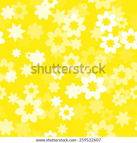 simple seamless floral pattern with clipping mask - stock vector