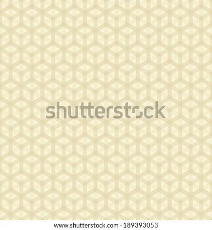simple seamless hexagonal pattern - stock vector