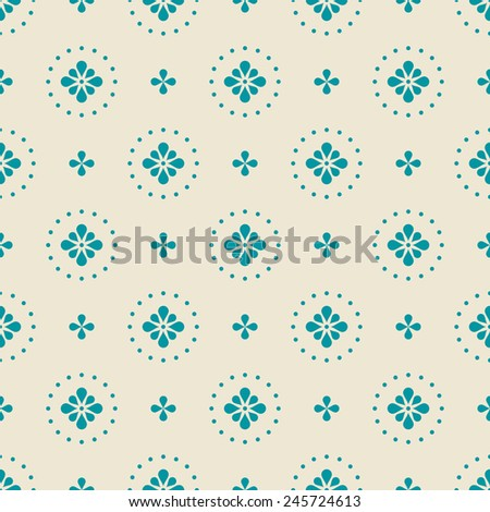 simple seamless minimalistic floral pattern - stock vector