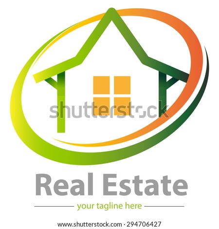 simple shapes homes or housing, as a basic logo property developer or real estate - stock vector
