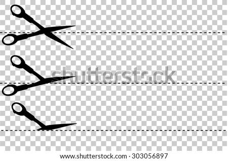 simple sign, Scissor, cut here  - stock vector