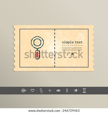 Simple stylish pixel magnifying glass icon design. - stock vector