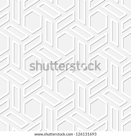 Simple texture - vector seamless black and white background with hexagonal pattern - stock vector