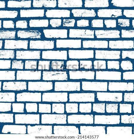 Simple vector background of old brickwork design. - stock vector