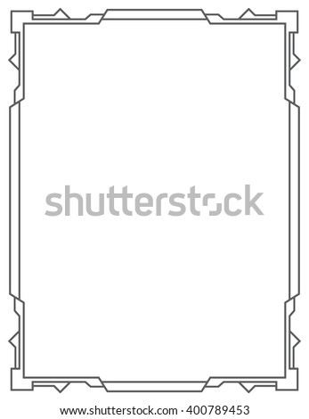 Simple vector black frame on a white background. vertical - stock vector