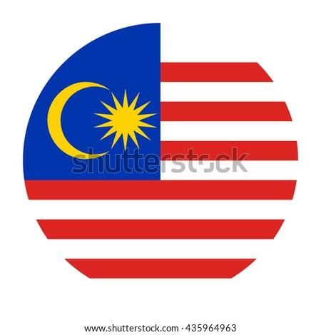 Simple vector button flag - Malaysia - stock vector