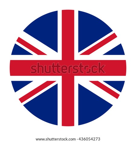 Simple vector button flag - United Kingdom - stock vector