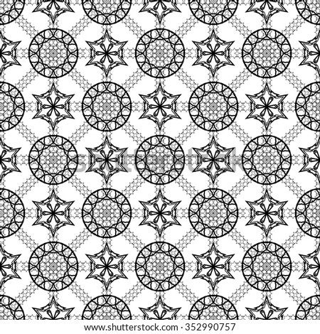 Simple vector seamless black and white background, texture. Endless texture can be used for wallpaper, pattern fills, web page background,surface textures. - stock vector