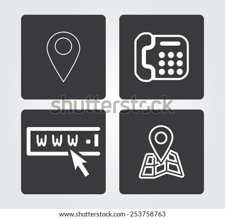 Simple web icon in vector: Internet communication - stock vector