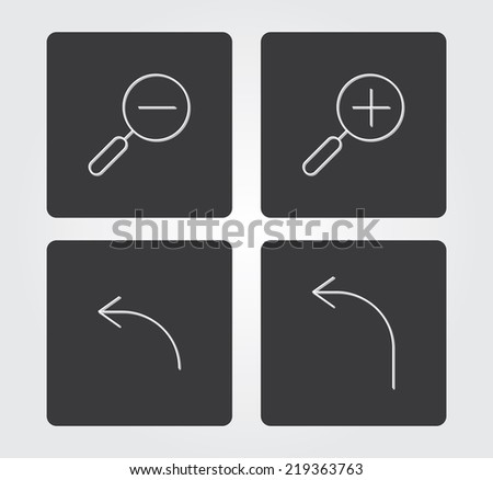 Simple web icon in vector: thin line style - stock vector