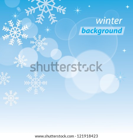 Simple winter background. Vector illustration - stock vector