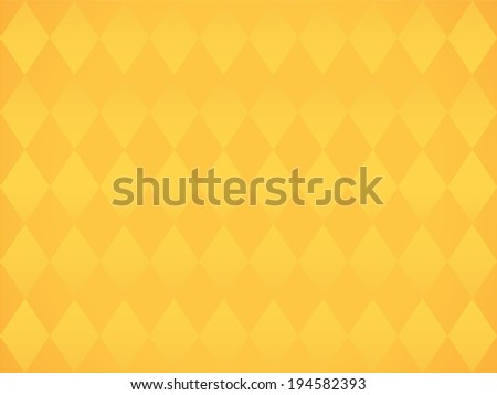 Simple yellow background with rombs vector - stock vector