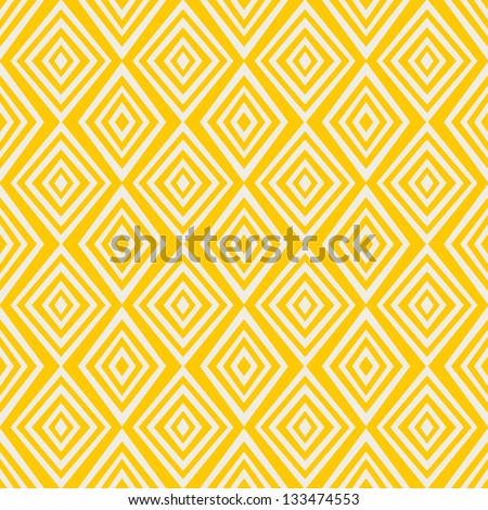 Simple yellow background with rombs. Vector Illustration. - stock vector