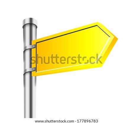 Sing. Vector Design Element. Road Arrow. - stock vector