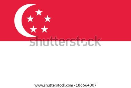 singapore flag vector - stock vector