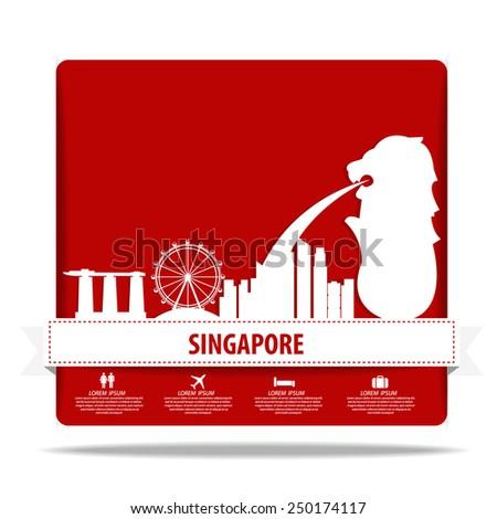 Singapore vector - stock vector