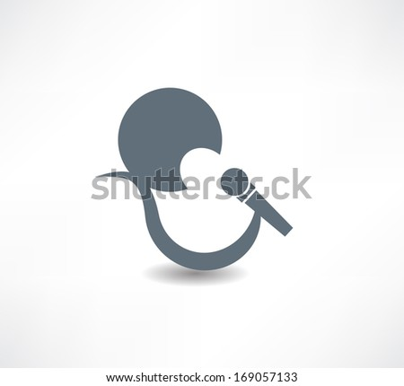 singer abstraction icon - stock vector