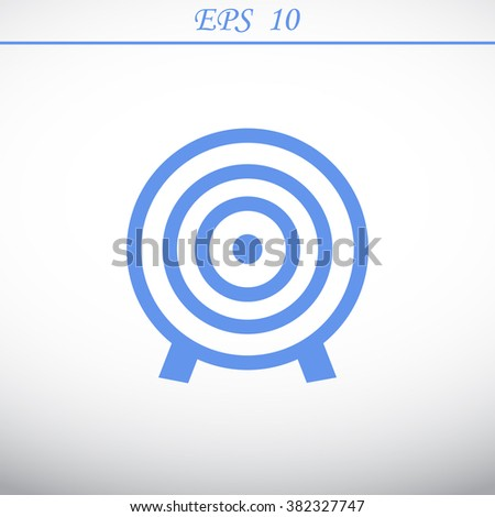 single icon depicting a target - stock vector