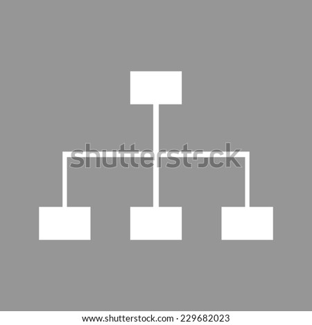 site map icon for your projects - stock vector