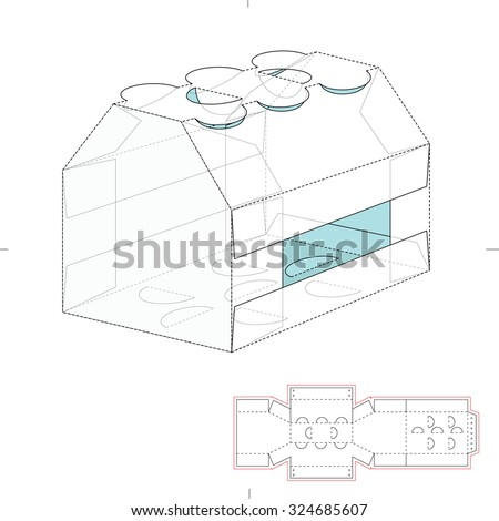 4 Pack Carrier Template With Auto Bottom Packaging Alfa Img Showing ...