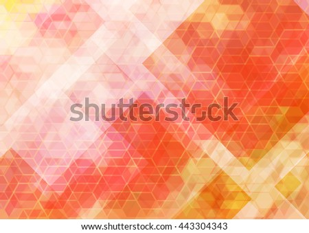 Six coving wave Abstract background for design vector backgrounds - stock vector