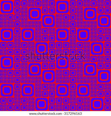 Sixties psychedelic geometric pattern - stock vector