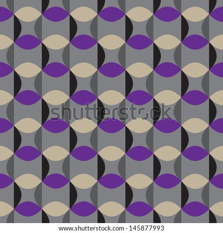 Sixties vintage pattern - stock vector