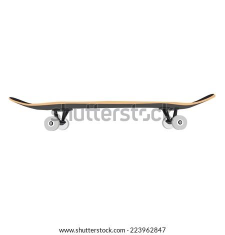 Skate, skateboard, skateboard vector, skateboard isolated - stock vector