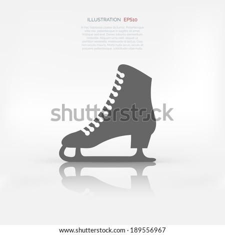 Skate web icon - stock vector