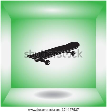 Skateboard icon. Skateboard vector. - stock vector