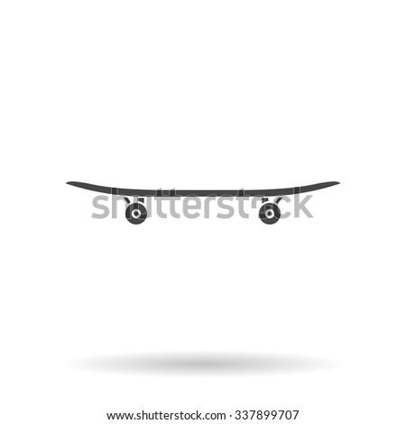 Skateboard. Icon Vector - stock vector
