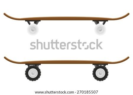 skateboard vector illustration isolated on white background - stock vector