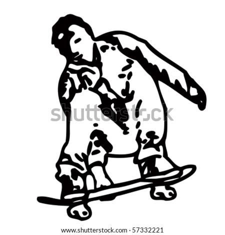 skater - stock vector