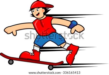 Skater Boy - stock vector
