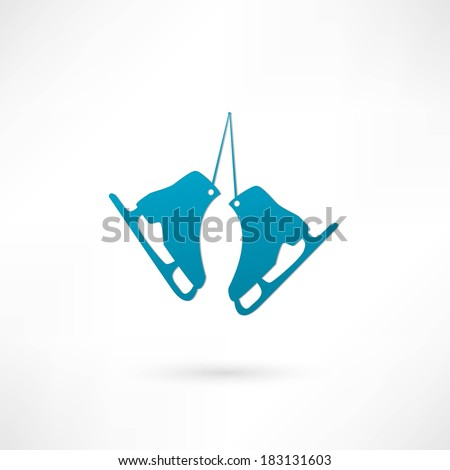 Skating Icon - stock vector
