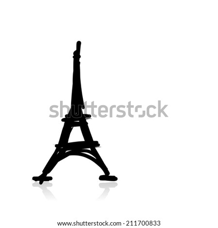 Sketch of eiffel tower for your design - stock vector