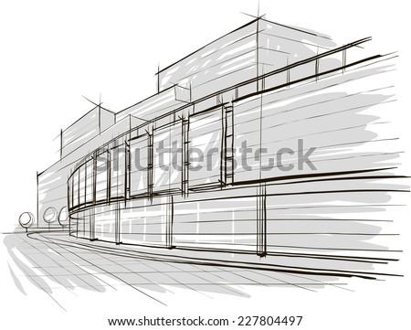 Sketch of stadium - stock vector